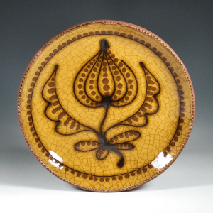 Round Plate, Yellow Trail, Floral Blossom