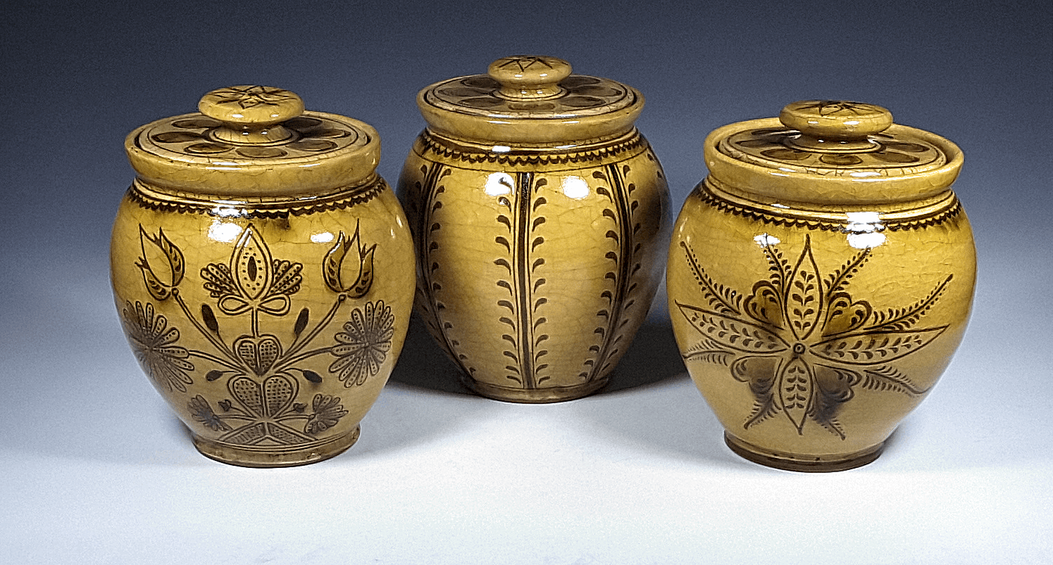Oval Jars, Sgraffito, Various