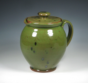 Lidded Pitcher, Green