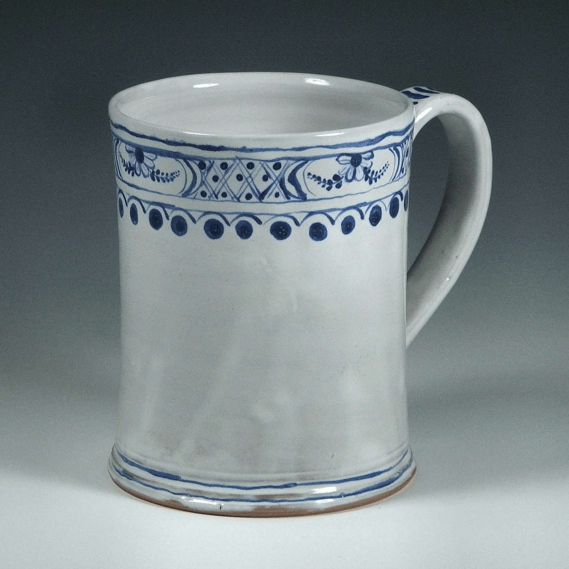 Tankard, Delft, Floral Band