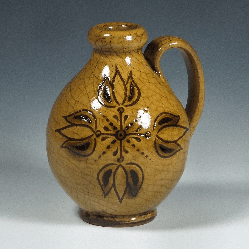 Jug, Extra Small, Sgraffito, 4 Tulips