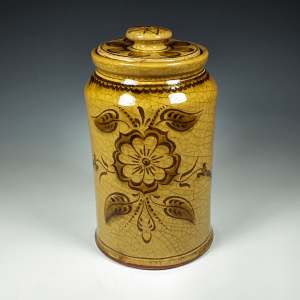Cannister, Sgraffito, Tudor Rose
