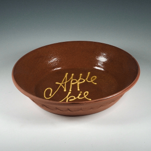 Bake Dish, Slipware, Apple Pie