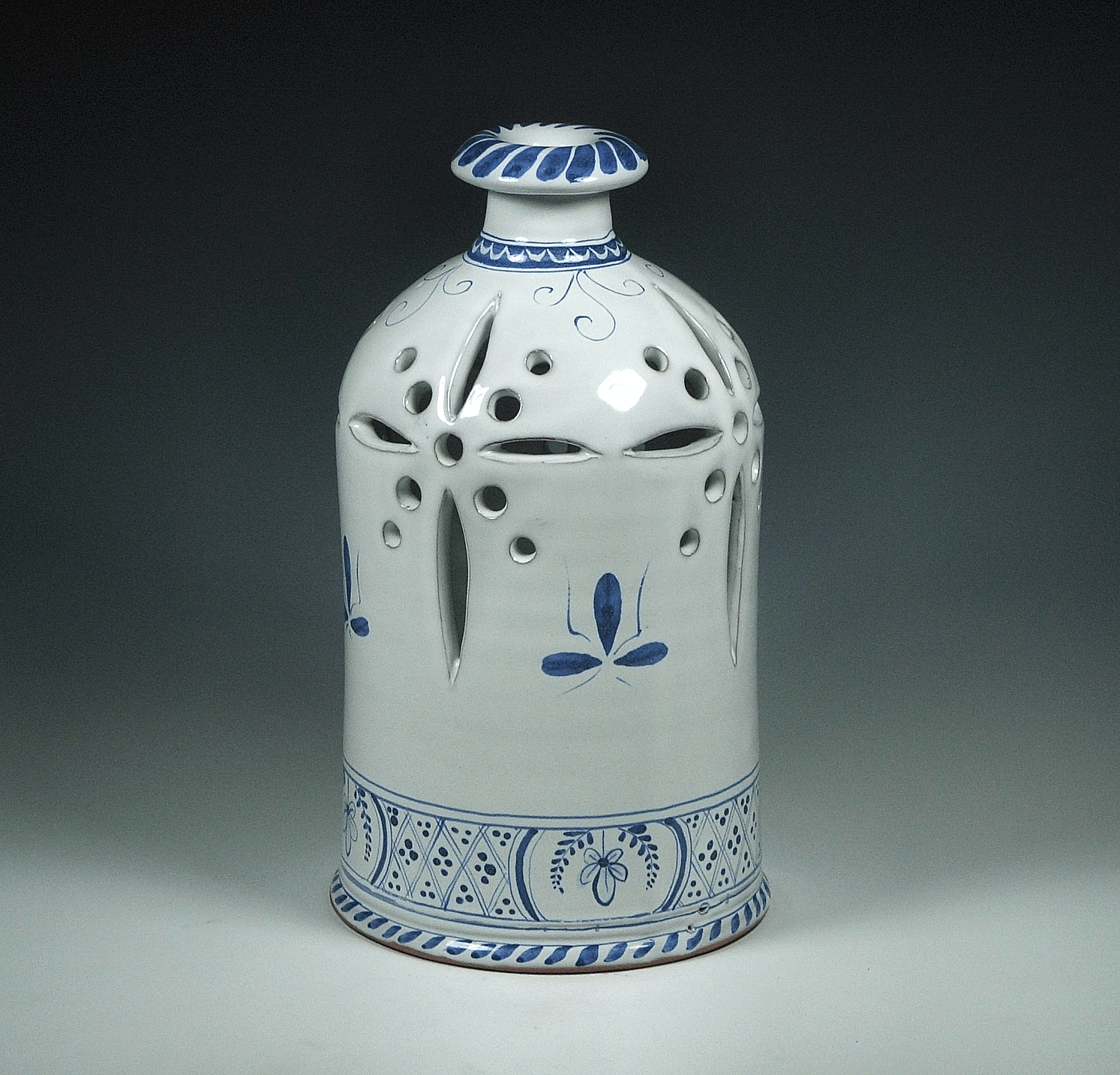 Luminary, Delft, Floral Basket