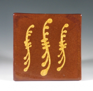 Tile, Slipware, 3 Swags