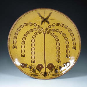 Round Plate, Sgraffito, Tree of Life