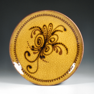 Round Plate, Yellow Trail, Sprig