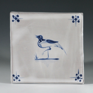 Tile, Delft, Bird on 1 Foot