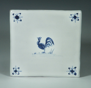 Tile, Delft, Blue Hen