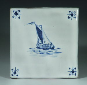 Tile, Delft, Ship 1