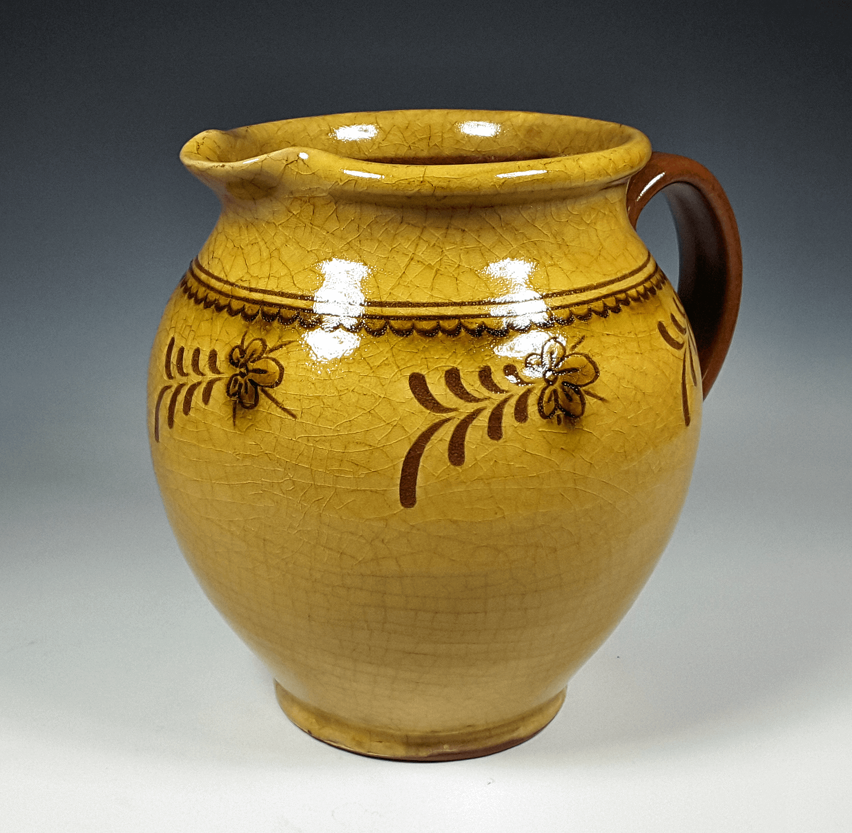 Pitcher, Floral Ring