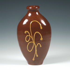 Flask, Slipware, Wheat