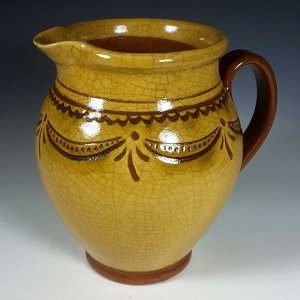 Sgraffito pitcher, Swag