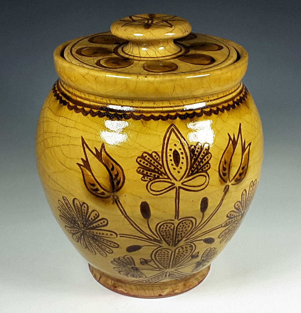 Oval Jar, Thistle