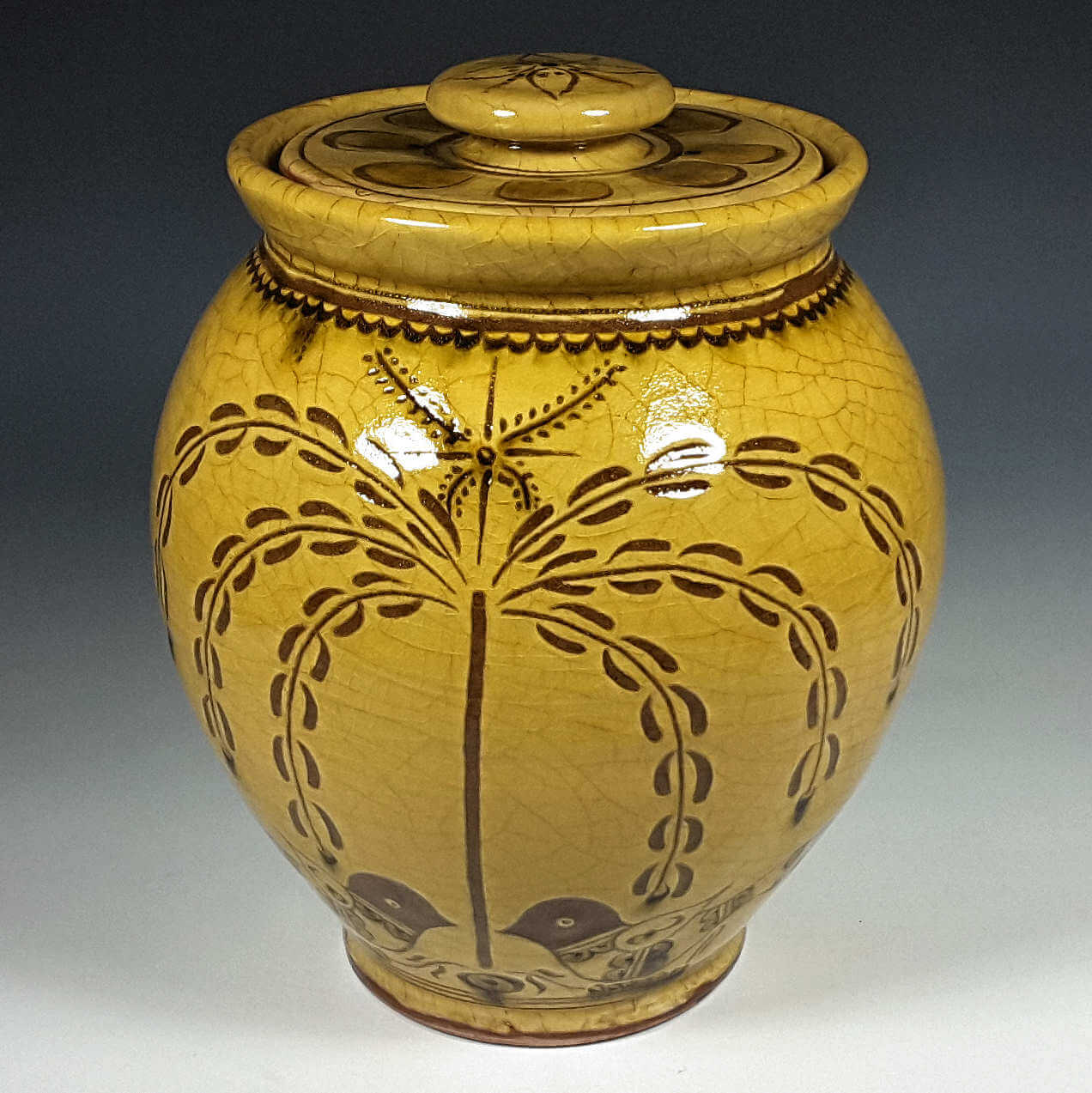 Oval Jar, Tree of Life
