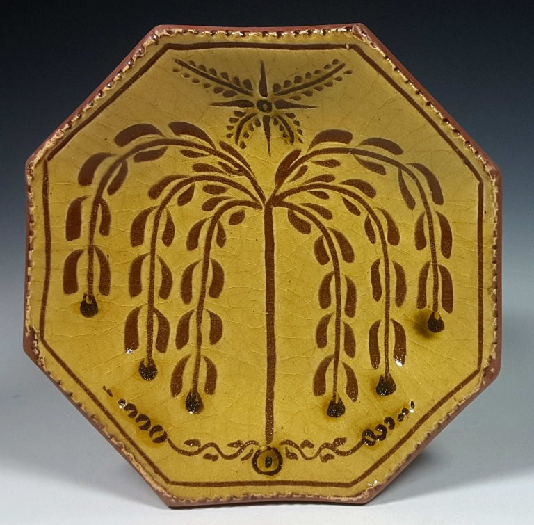 Octagon Willow Plate