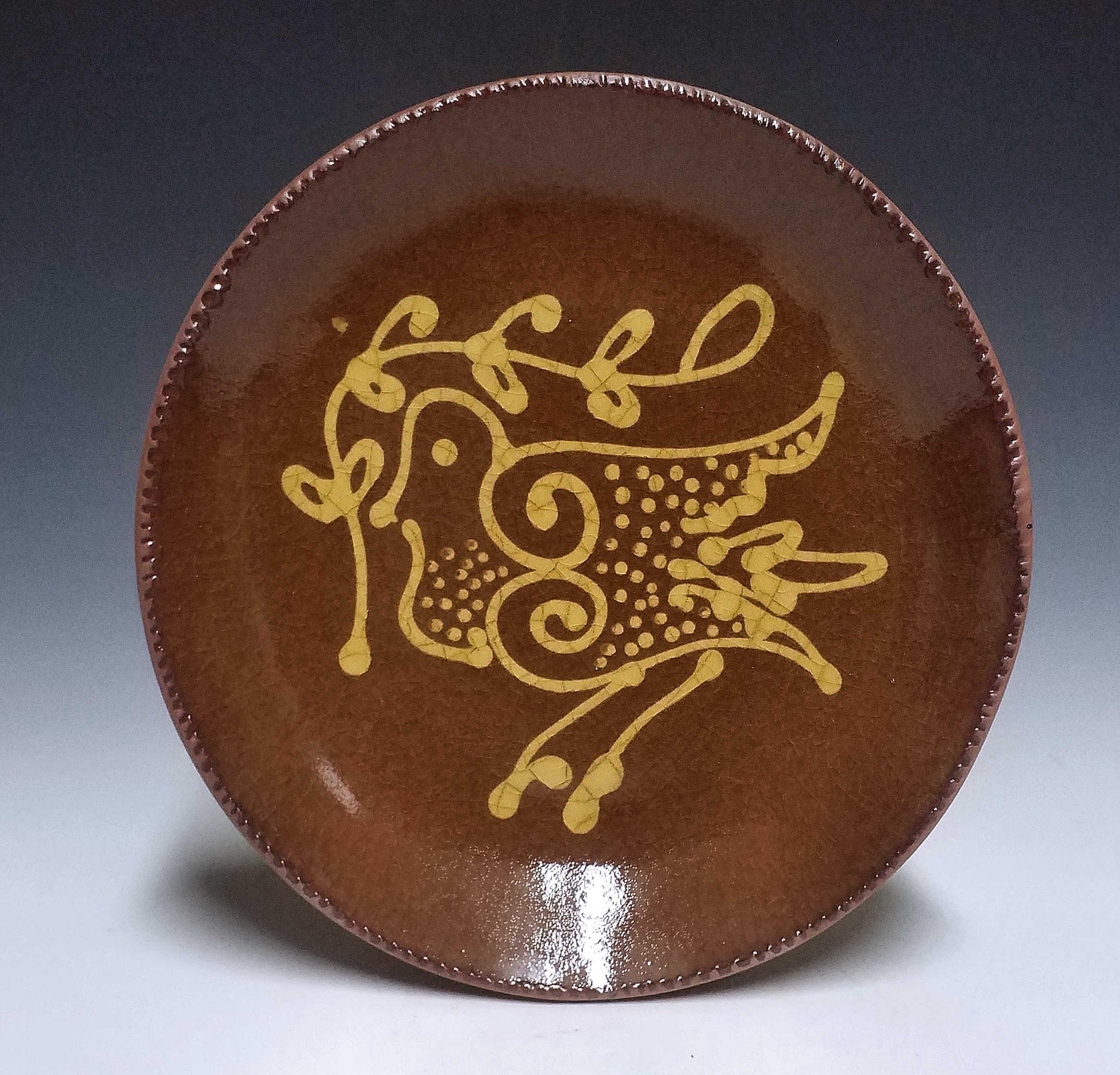 Round Plate, Dove