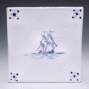 Tile, 2 Masted Ship