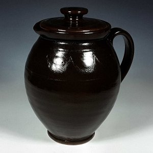 Lidded Pitcher, Black