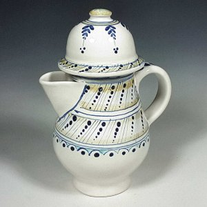 Spouted Polychrome Ewer, Dotted Lines