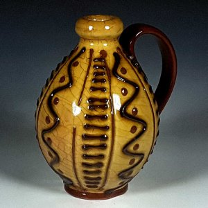 Jug, Yellow Slipware, Hatch Lines
