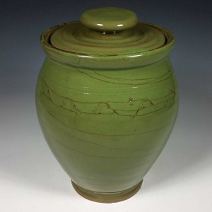 Oval Jar, Green