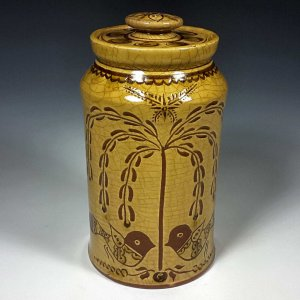 Canister, Sgraffito, Tree of Life