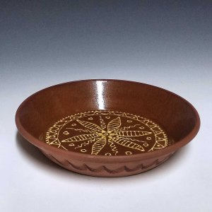 Bake Dish, Slipware, Star