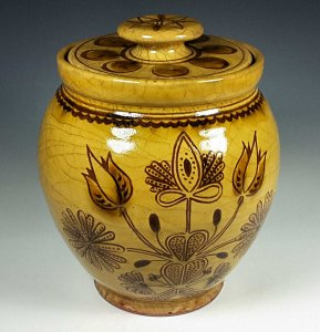 Large Oval Thistle Jar