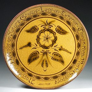 Round Plate, Sgraffito, Happiness Depends