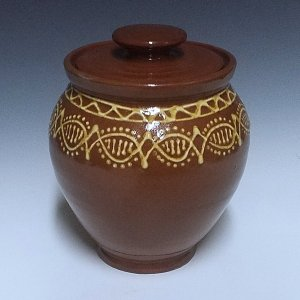 Oval Jar, Banded