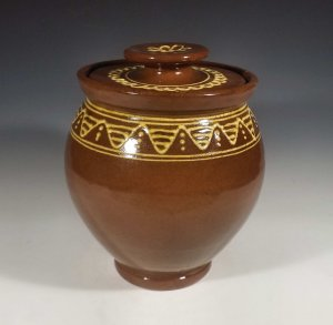 Oval Jar, Slipware