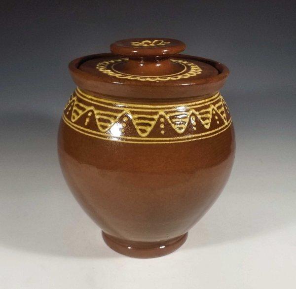 Oval Jar, Slipware