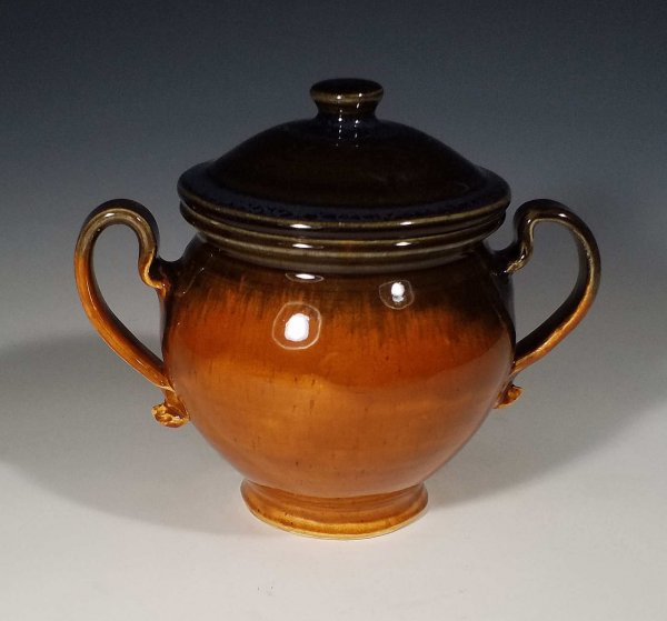 Sugar Pot, two tone