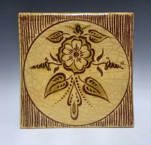 Tile, Sgraffito, Tudor Rose