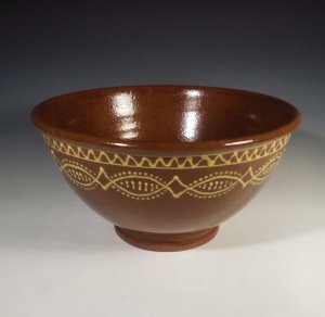 Bowl, Large, Slipware