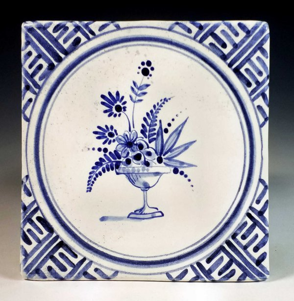 Tile Chinese border Floral