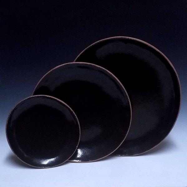 Round Plate Set, Black